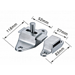 Heavy duty SS Solid Security Buckle